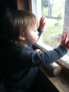Here is Ian discovering a window.