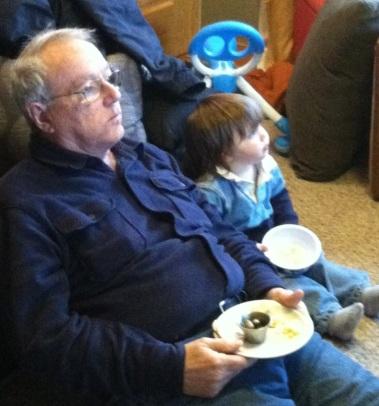 Ian with Pop Pop Frangipane